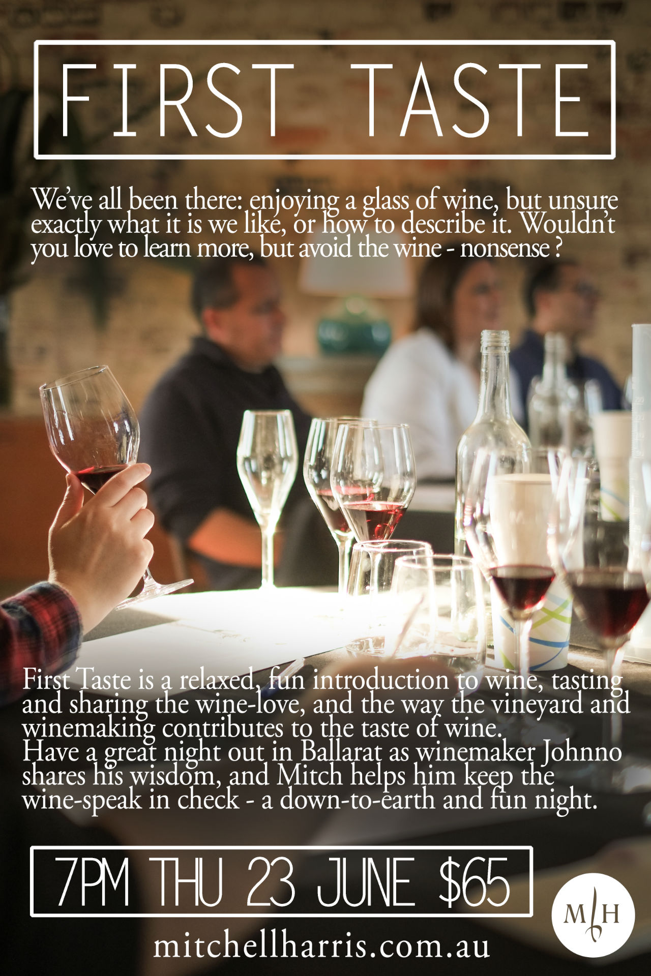 ab3059391cc First Taste wine tasting - Mitchell Harris Wines
